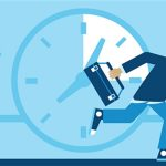 Technicien de vpn entreprise en train de courir pour une intervention rapide chez un client