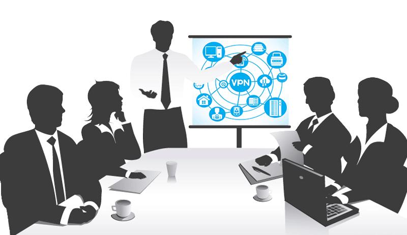 Meeting de présentation à un client d'une solution VPN